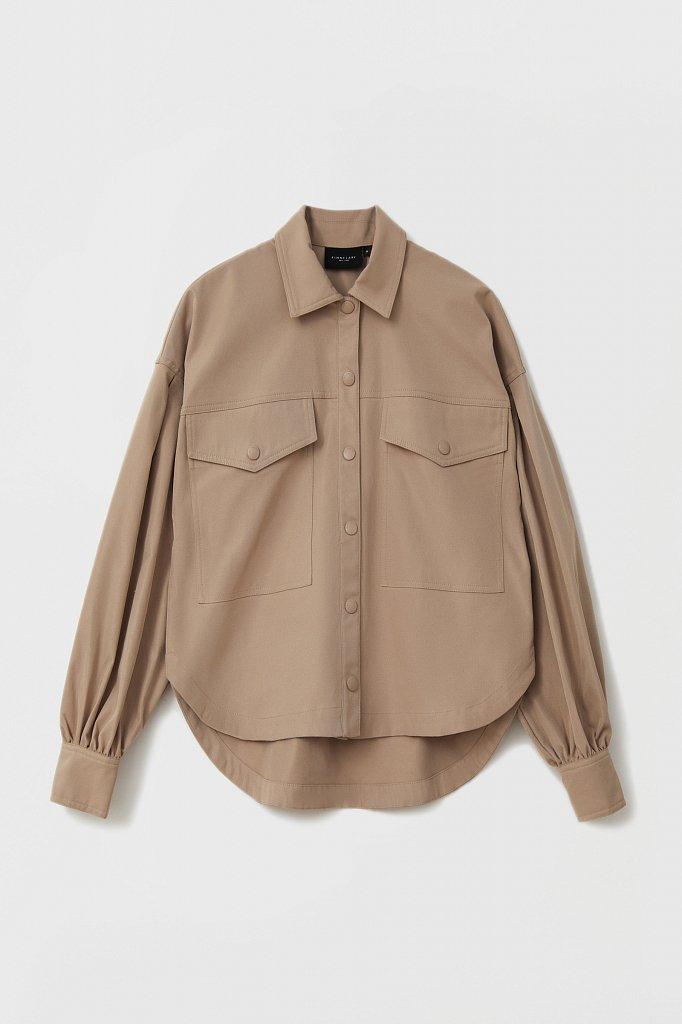 Женская рубашка c объемными рукавами и карманами, Модель FAB11009, Фото №8