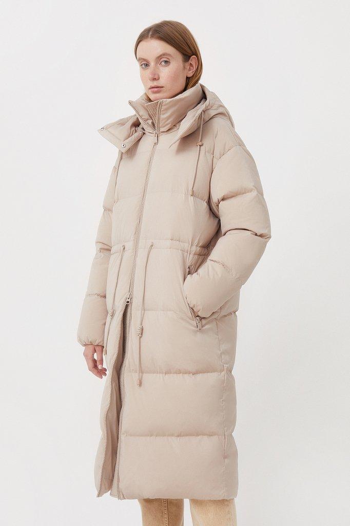 Пуховое женское пальто свободного кроя, Модель FAB110183, Фото №3