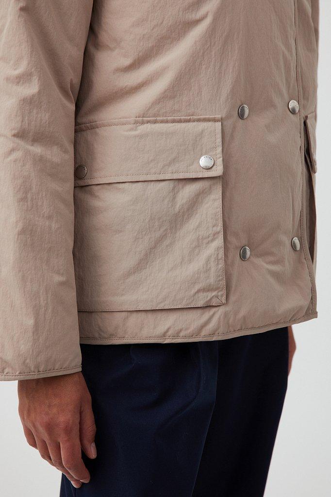 Утепленная двусторонняя куртка женская с капюшоном, Модель FAB110206, Фото №7