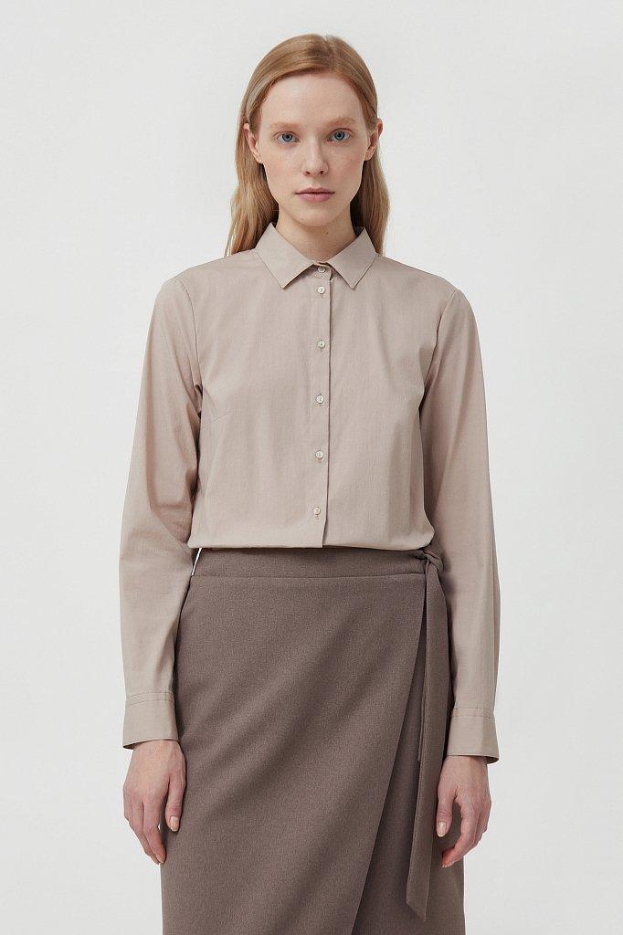 Классическая женская рубашка приталенного силуэта, Модель FAB110224, Фото №1