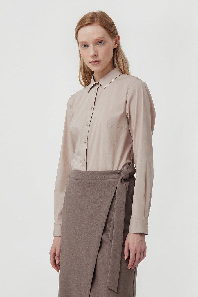 Классическая женская рубашка приталенного силуэта, Модель FAB110224, Фото №3