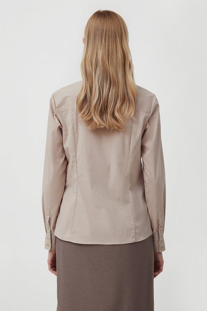 Классическая женская рубашка приталенного силуэта, Модель FAB110224, Фото №4