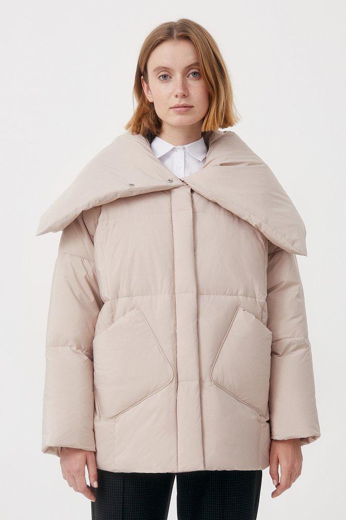 Оверсайз пуховик женский фасона «одеяло», Модель FAB11093, Фото №1