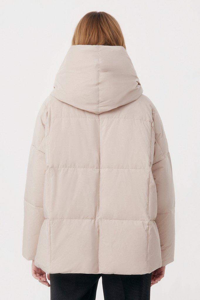 Оверсайз пуховик женский фасона «одеяло», Модель FAB11093, Фото №4