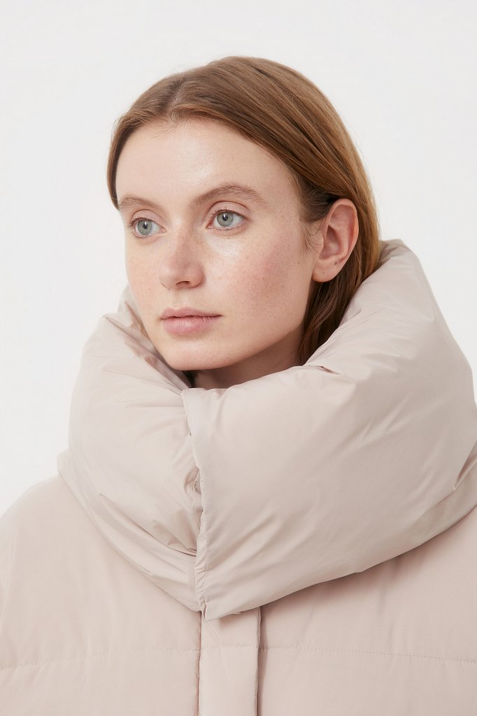 Оверсайз пуховик женский фасона «одеяло», Модель FAB11093, Фото №6