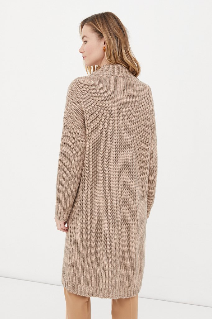 Пальто женское с шерстью, Модель FAB111104, Фото №4