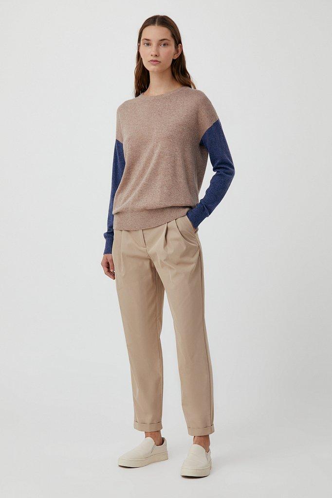 Джемпер женский прямого кроя с ангорой и шерстью, Модель FAB11133, Фото №2