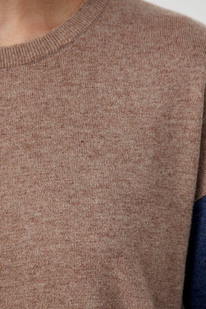 Джемпер женский прямого кроя с ангорой и шерстью, Модель FAB11133, Фото №6