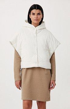 Укороченный женский жилет фасона oversize FAB110110