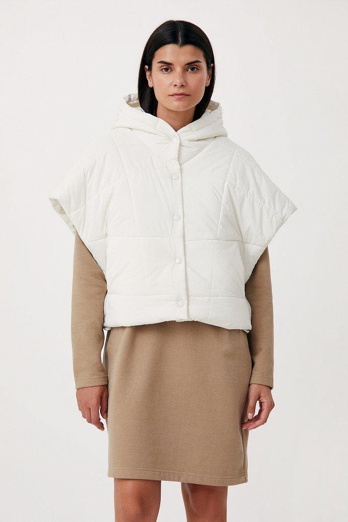 Укороченный женский жилет фасона oversize, Модель FAB110110, Фото №1