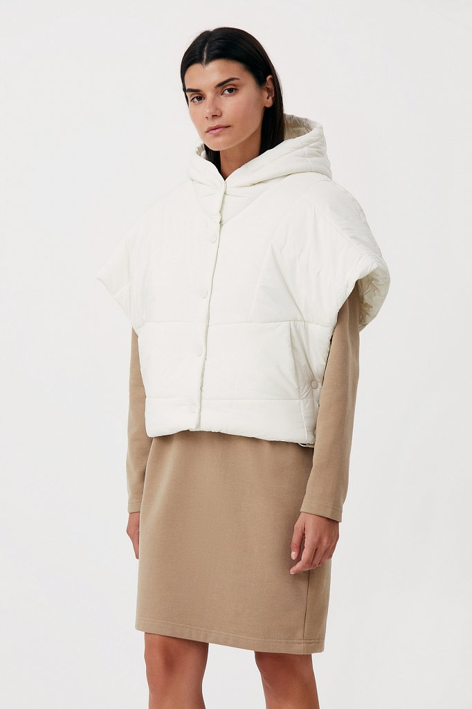 Укороченный женский жилет фасона oversize, Модель FAB110110, Фото №3