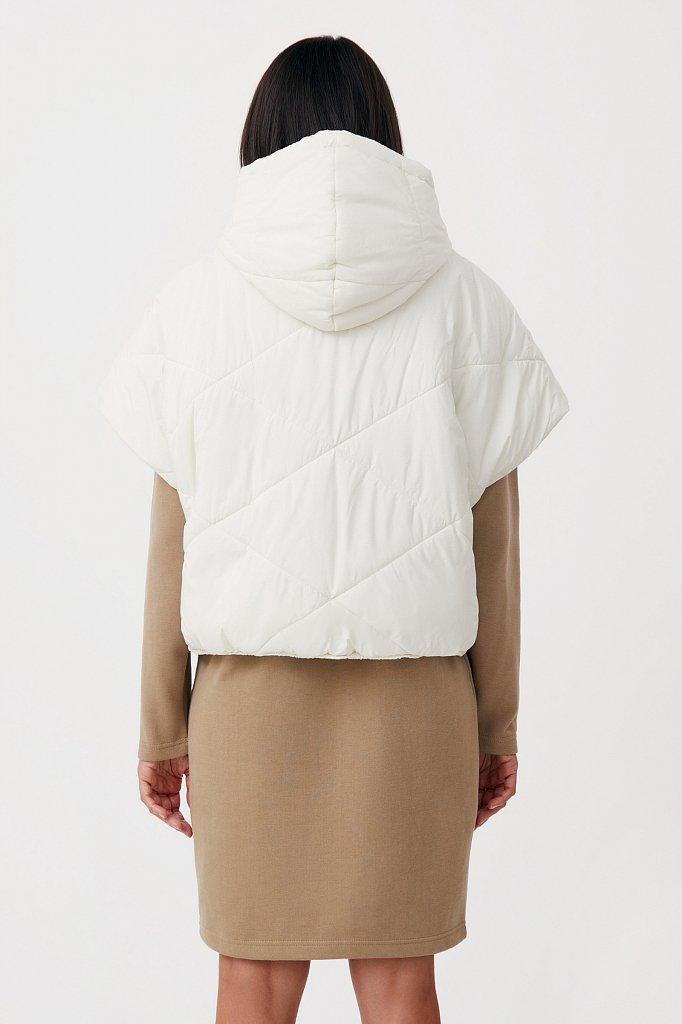 Укороченный женский жилет фасона oversize, Модель FAB110110, Фото №4