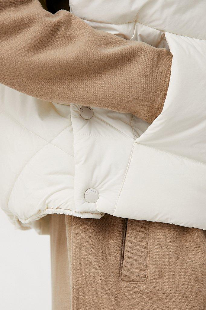 Укороченный женский жилет фасона oversize, Модель FAB110110, Фото №5