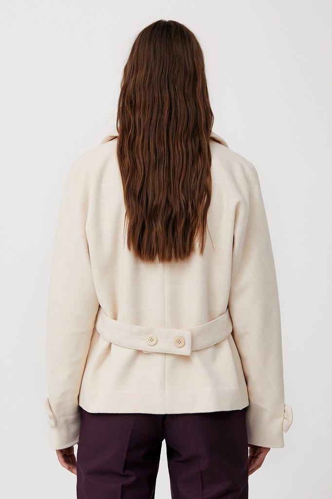 Женский жакет прямого кроя с поясом на спинке, Модель FAB11082, Фото №2