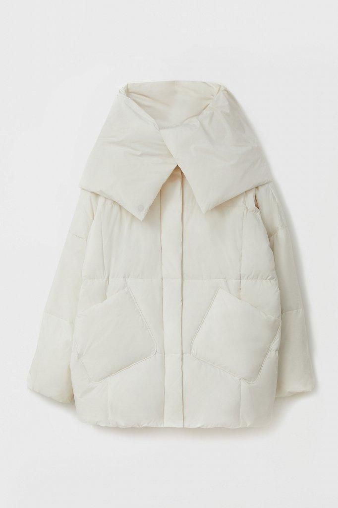 Оверсайз пуховик женский фасона «одеяло», Модель FAB11093, Фото №7