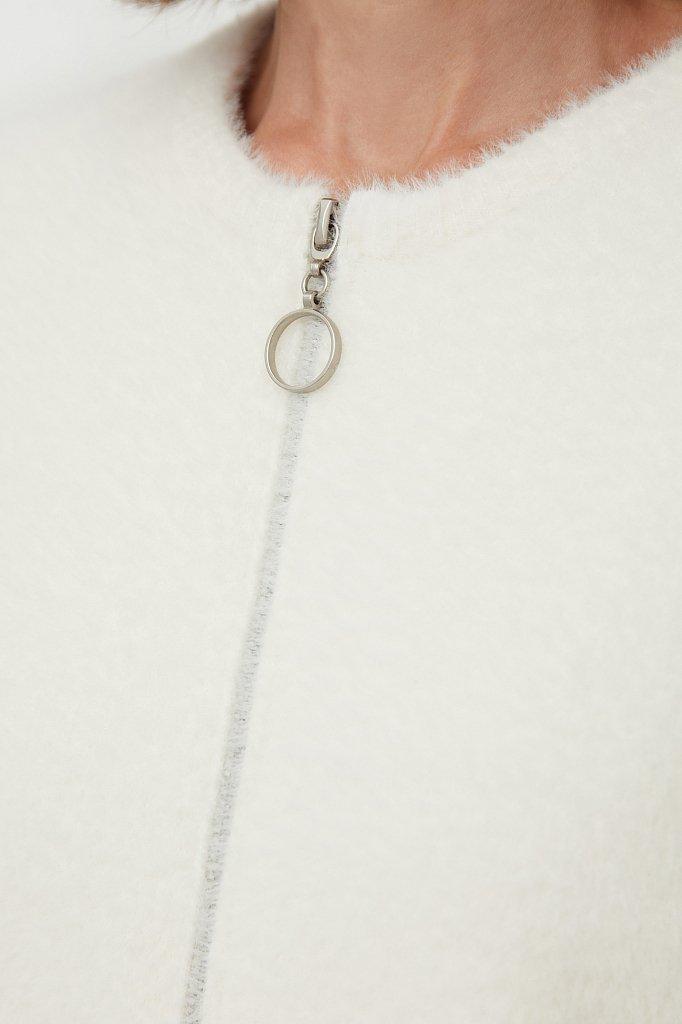 Женский кардиган из шелковистой пряжи с ворсом, Модель FAB11121, Фото №5