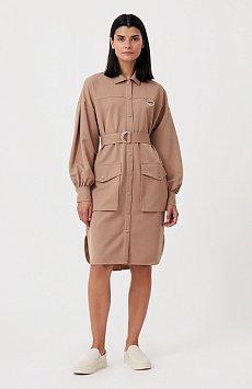 Платье-рубашка оверсайз с объемными рукавами FAB11011