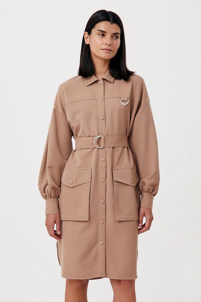 Платье-рубашка оверсайз с объемными рукавами, Модель FAB11011, Фото №2