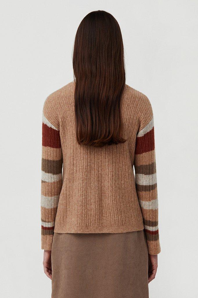Женский джемпер с шерстью в стиле color block, Модель FAB11157, Фото №4