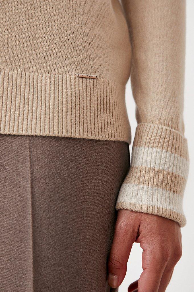 Водолазка женская прямого силуэта с шерстью, Модель FAB11159, Фото №5