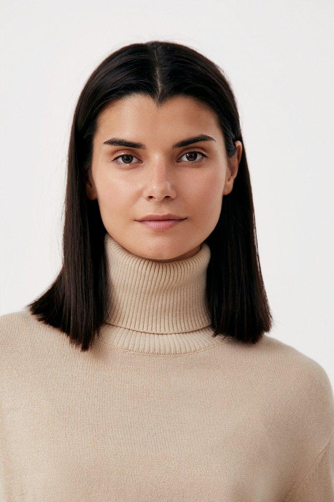 Водолазка женская прямого силуэта с шерстью, Модель FAB11159, Фото №6