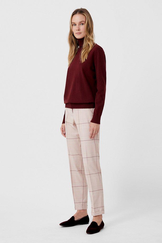 Классические женские брюки в клетку со стрелками, Модель FAB110202, Фото №1