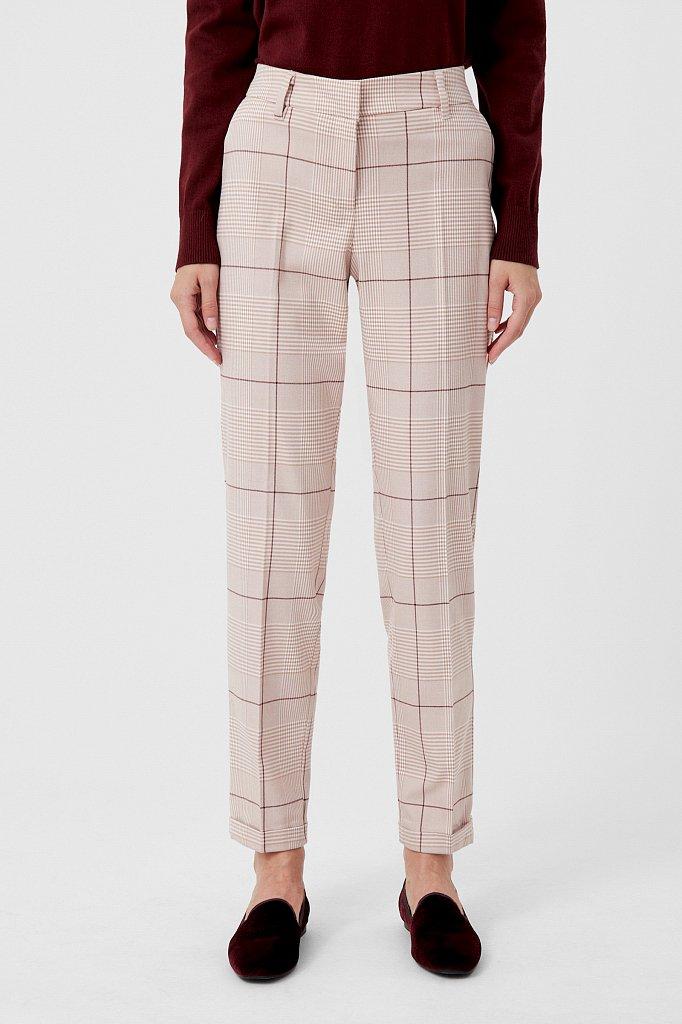 Классические женские брюки в клетку со стрелками, Модель FAB110202, Фото №2