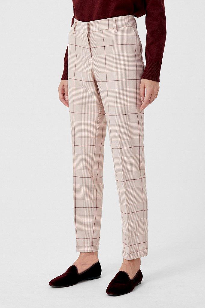 Классические женские брюки в клетку со стрелками, Модель FAB110202, Фото №3