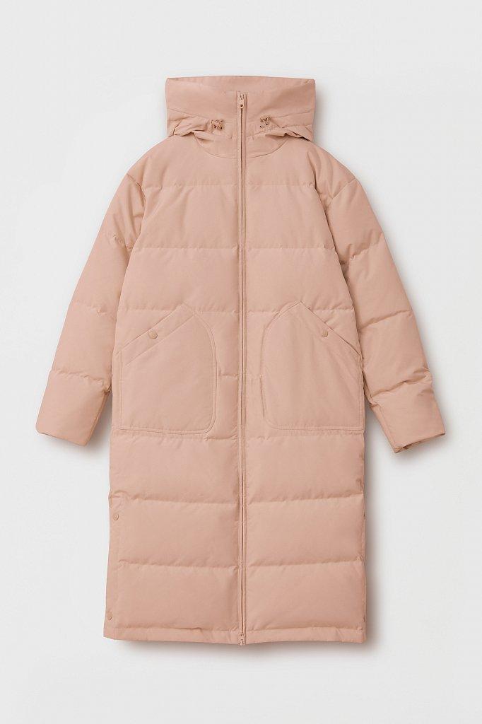Пуховое женское пальто свободного кроя, Модель FAB11086, Фото №8