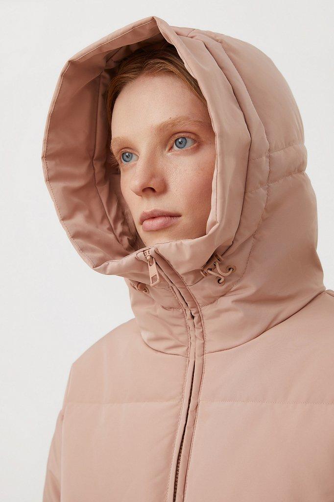 Пуховое женское пальто свободного кроя, Модель FAB11086, Фото №7