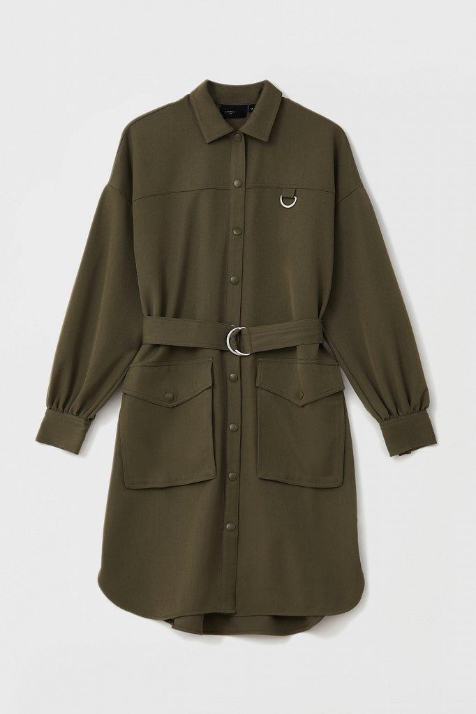 Платье-рубашка оверсайз с объемными рукавами, Модель FAB11011, Фото №8