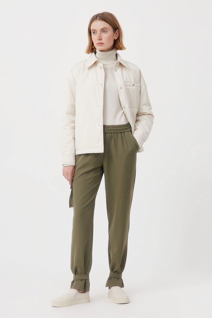 Женские брюки спортивного фасона c патами, Модель FAB110128, Фото №1
