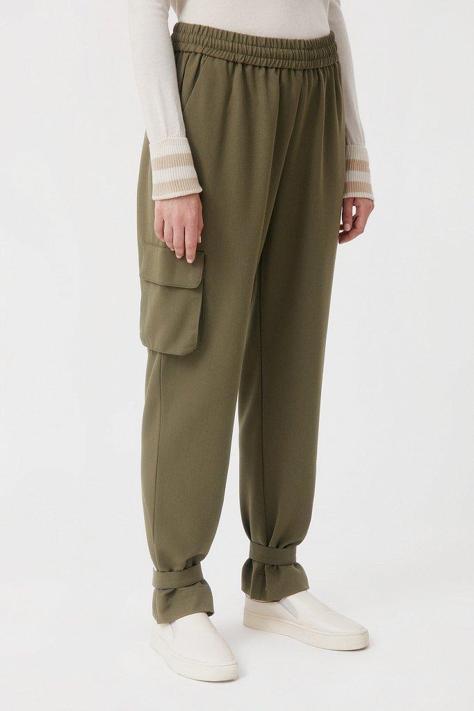 Женские брюки спортивного фасона c патами, Модель FAB110128, Фото №3