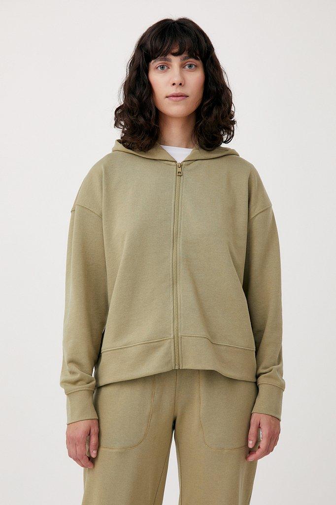 Базовая женская толстовка из смесовой ткани, Модель FAB110177, Фото №1