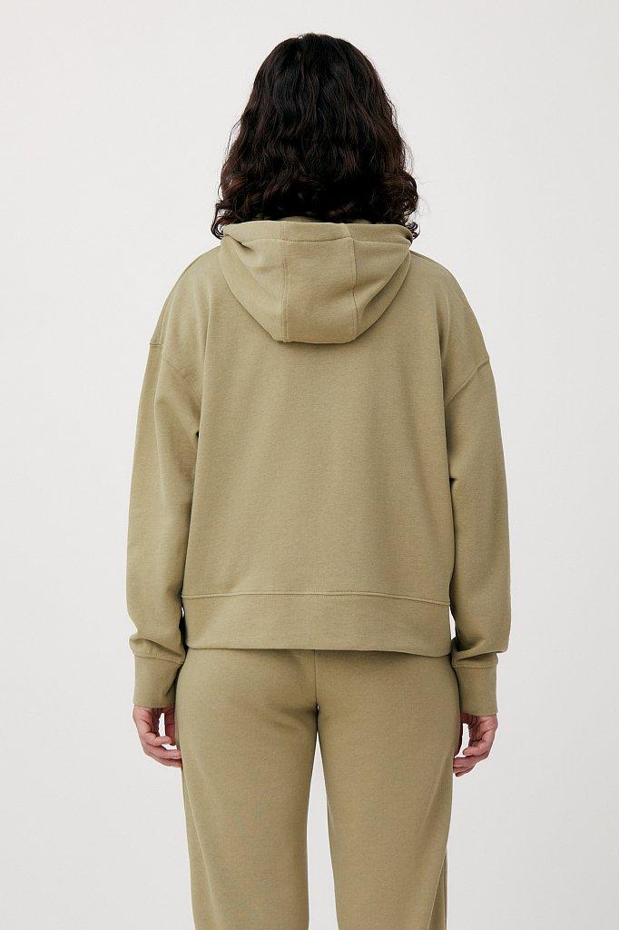 Базовая женская толстовка из смесовой ткани, Модель FAB110177, Фото №4
