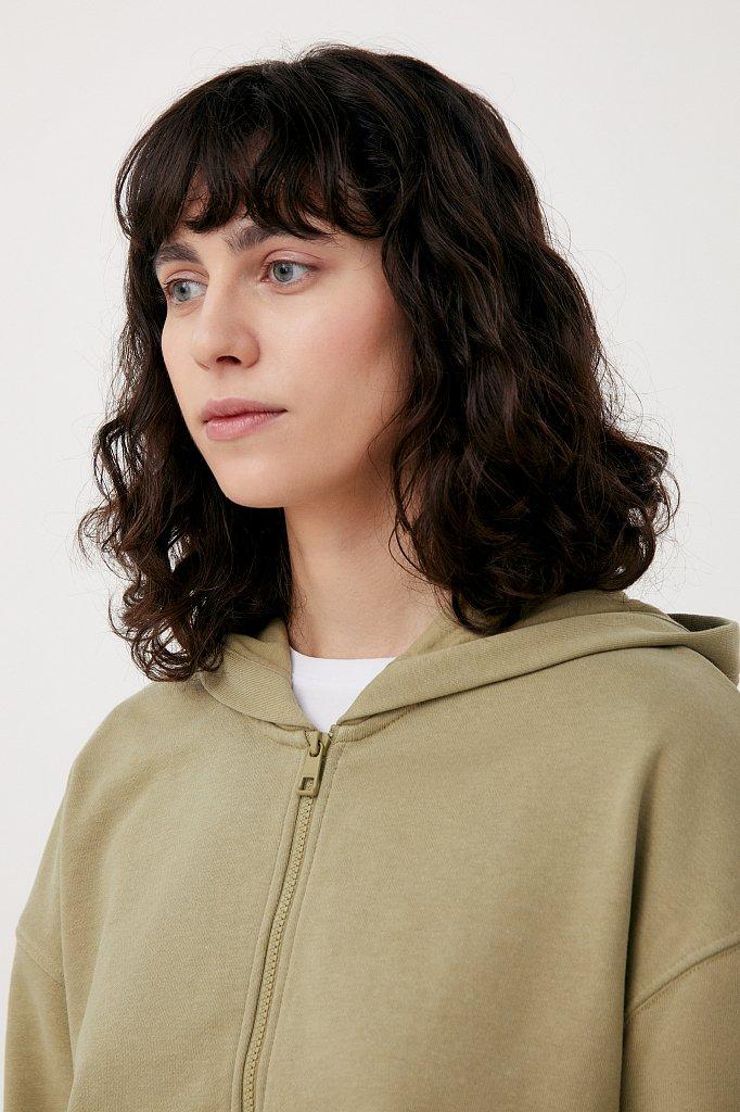 Базовая женская толстовка из смесовой ткани, Модель FAB110177, Фото №5