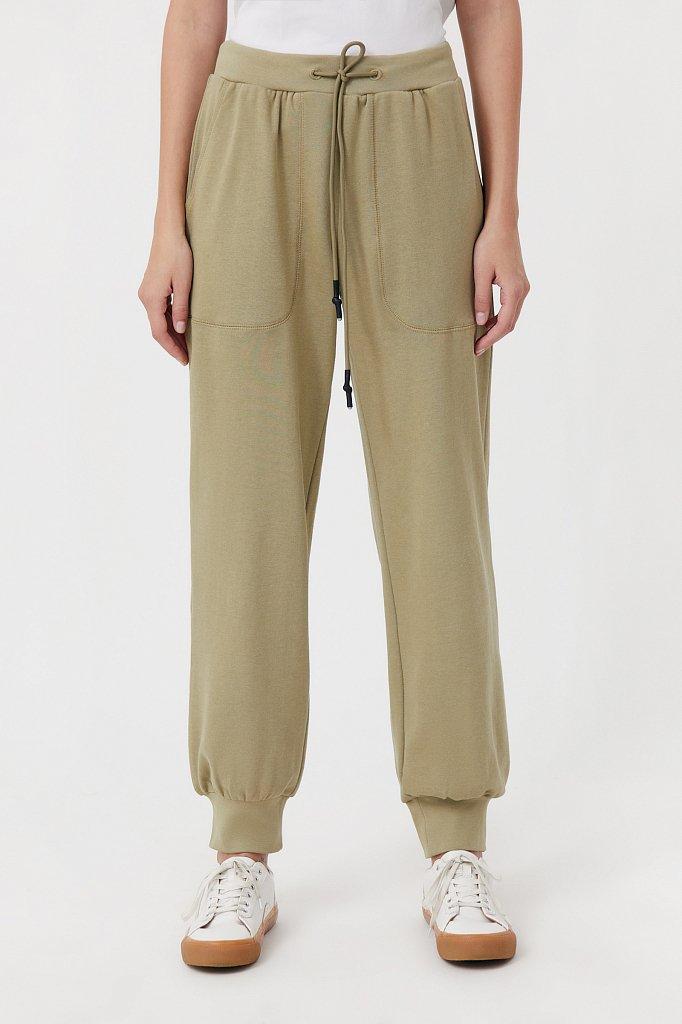 Женские брюки на резинке с манжетами по низу, Модель FAB110178, Фото №2