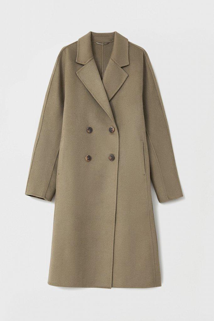 Драповое женское пальто свободного кроя, Модель FAB110211, Фото №7