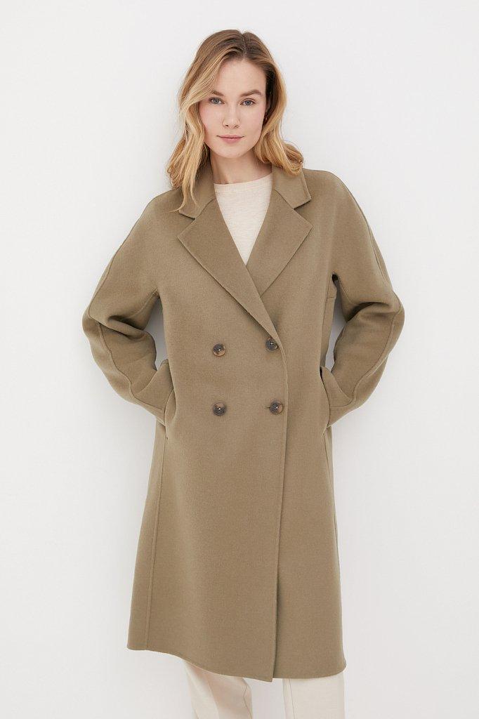 Драповое женское пальто свободного кроя, Модель FAB110211, Фото №2