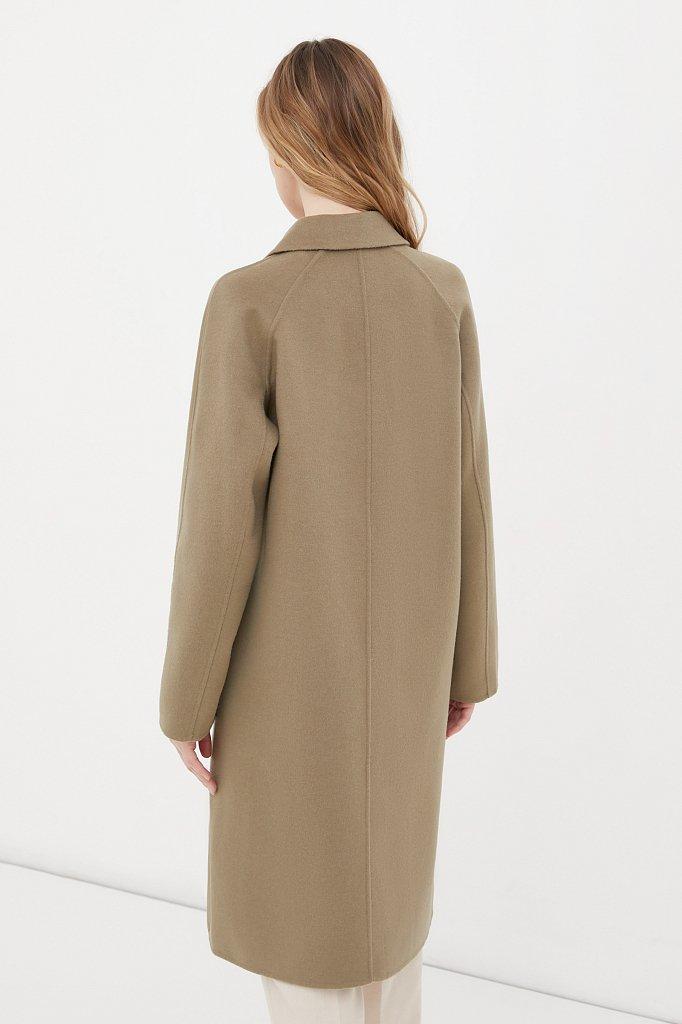 Драповое женское пальто свободного кроя, Модель FAB110211, Фото №4
