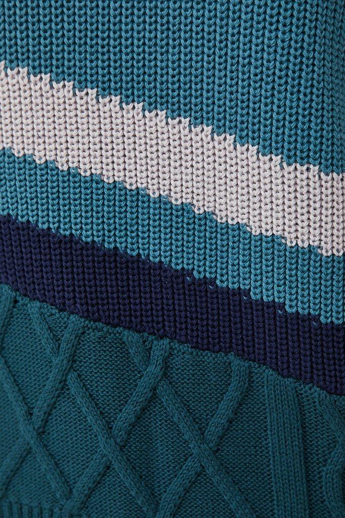 Женский свитер с различными вязанными узорами, Модель FAB11124, Фото №5