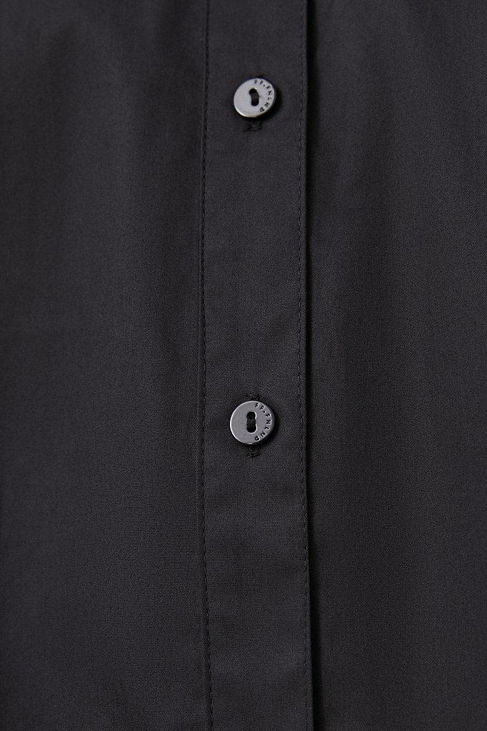Удлиненная женская рубашка оверсайз с манжетами, Модель FWB51033, Фото №7