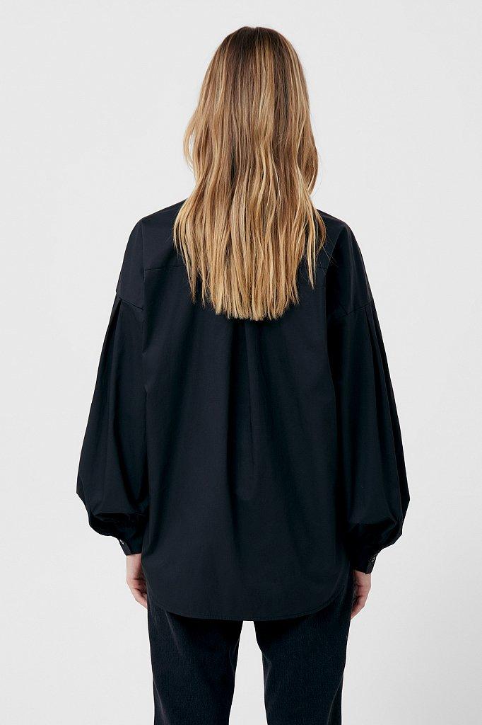 Рубашка женская с объемными рукавами из хлопка, Модель FWB51034, Фото №4