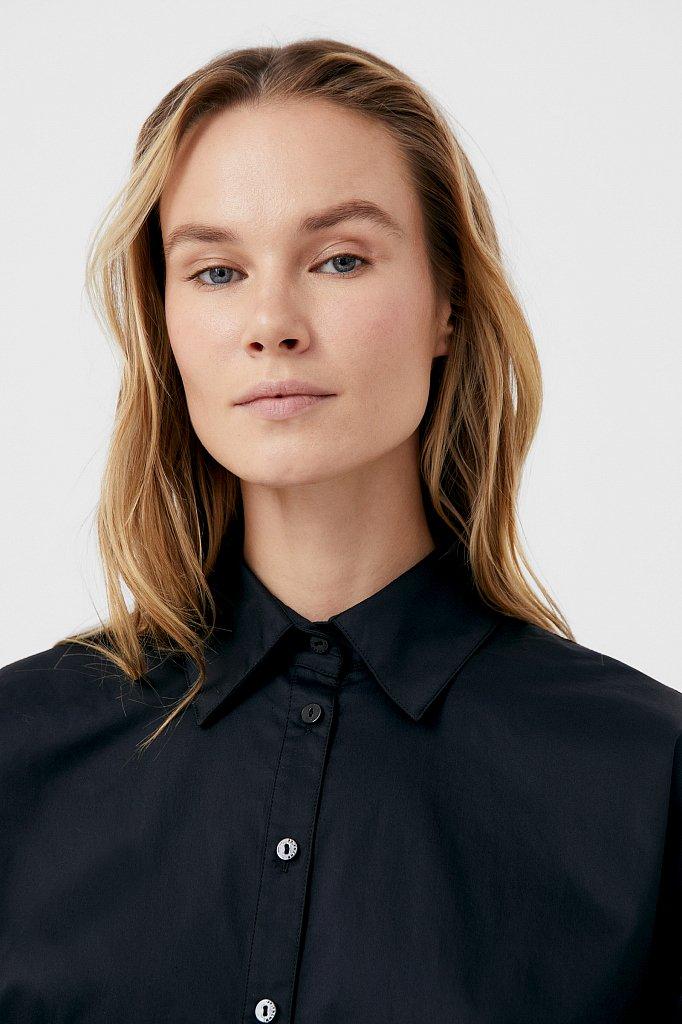 Рубашка женская с объемными рукавами из хлопка, Модель FWB51034, Фото №5