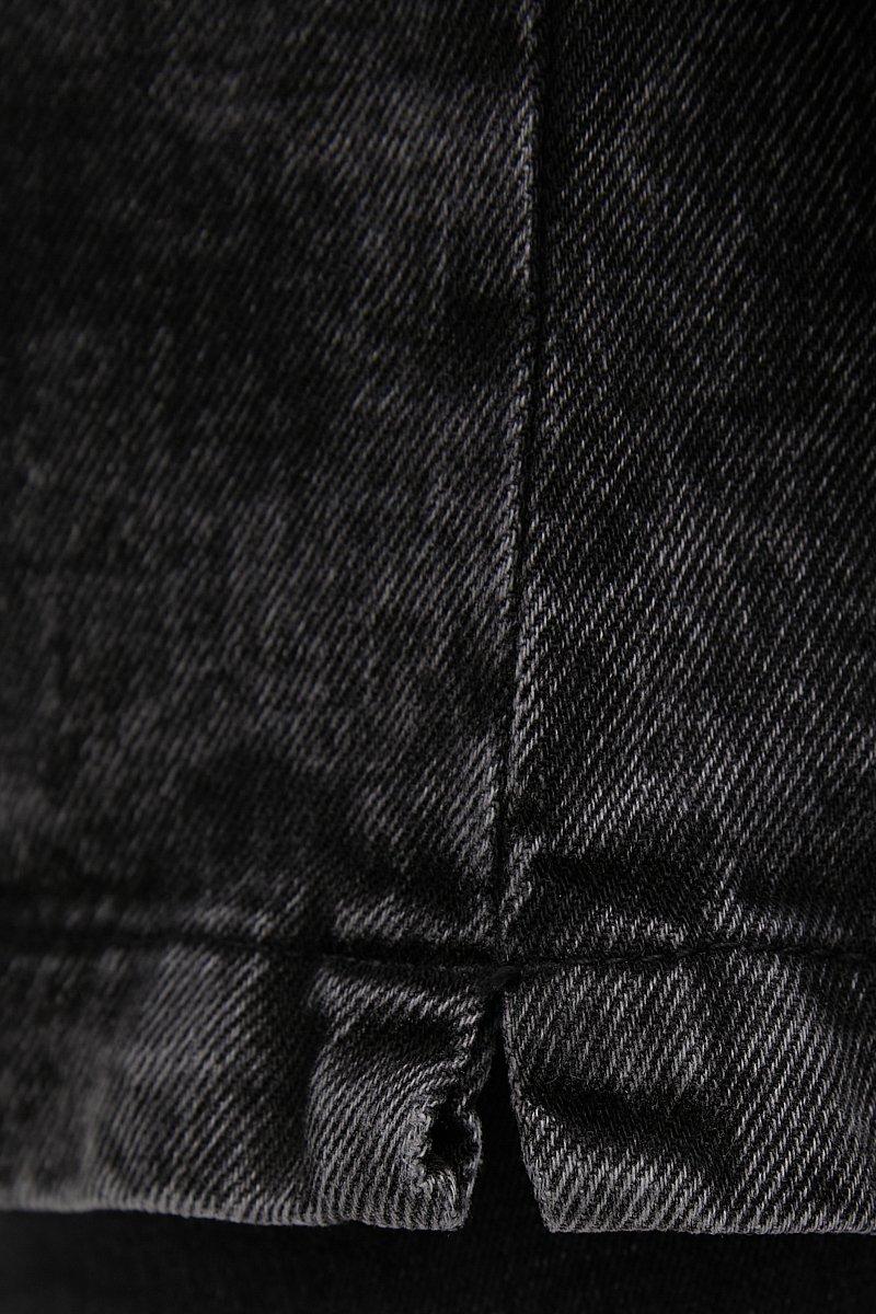 Джинсовая женская куртка в стиле милитари с поясом, Модель FWB55003, Фото №5