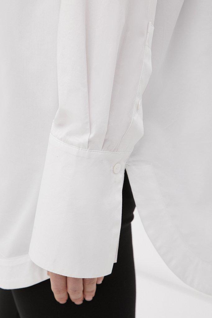 Удлиненная женская рубашка оверсайз с манжетами, Модель FWB51033, Фото №6