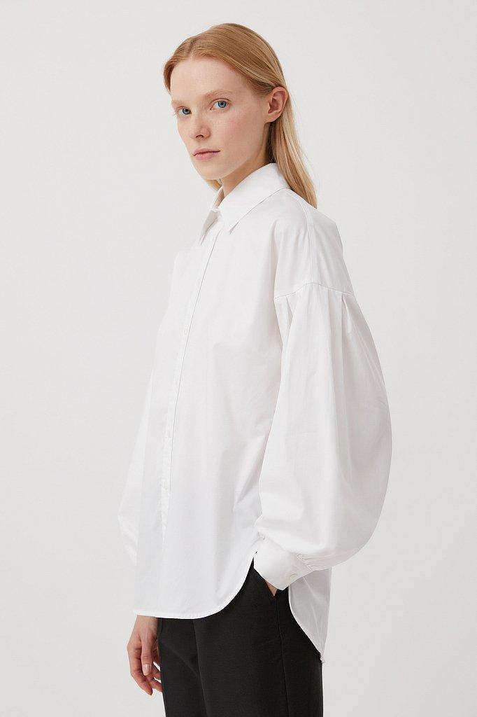 Рубашка женская с объемными рукавами из хлопка, Модель FWB51034, Фото №3