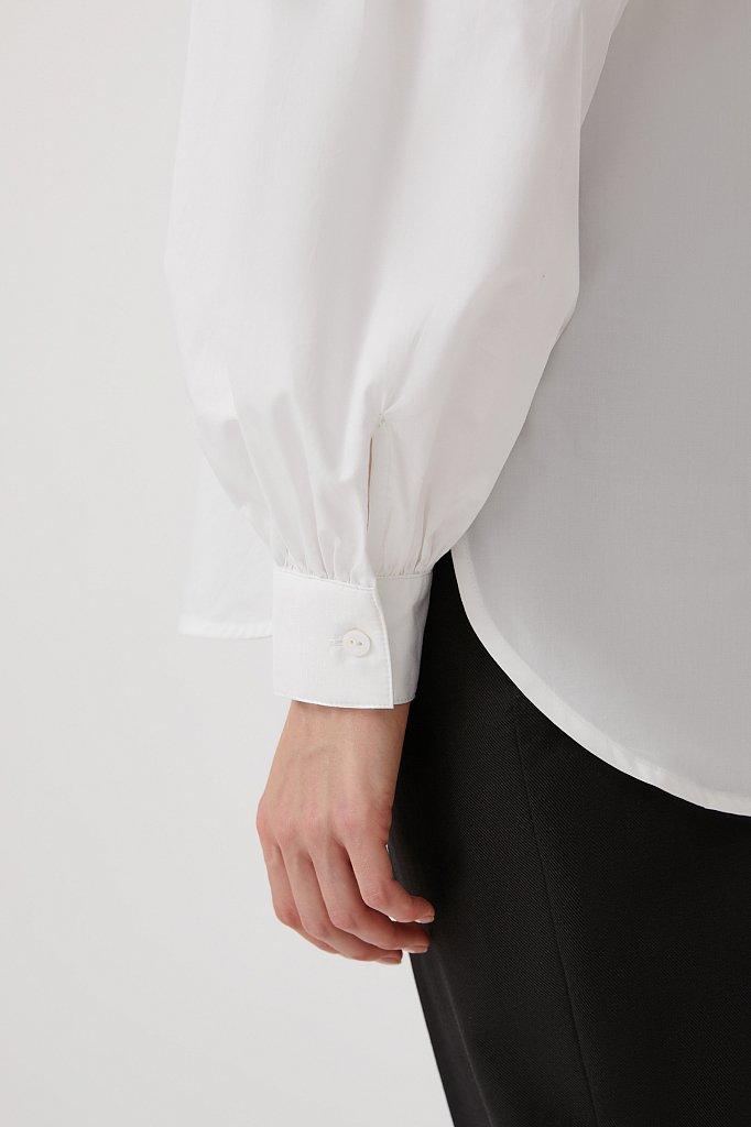 Рубашка женская с объемными рукавами из хлопка, Модель FWB51034, Фото №6
