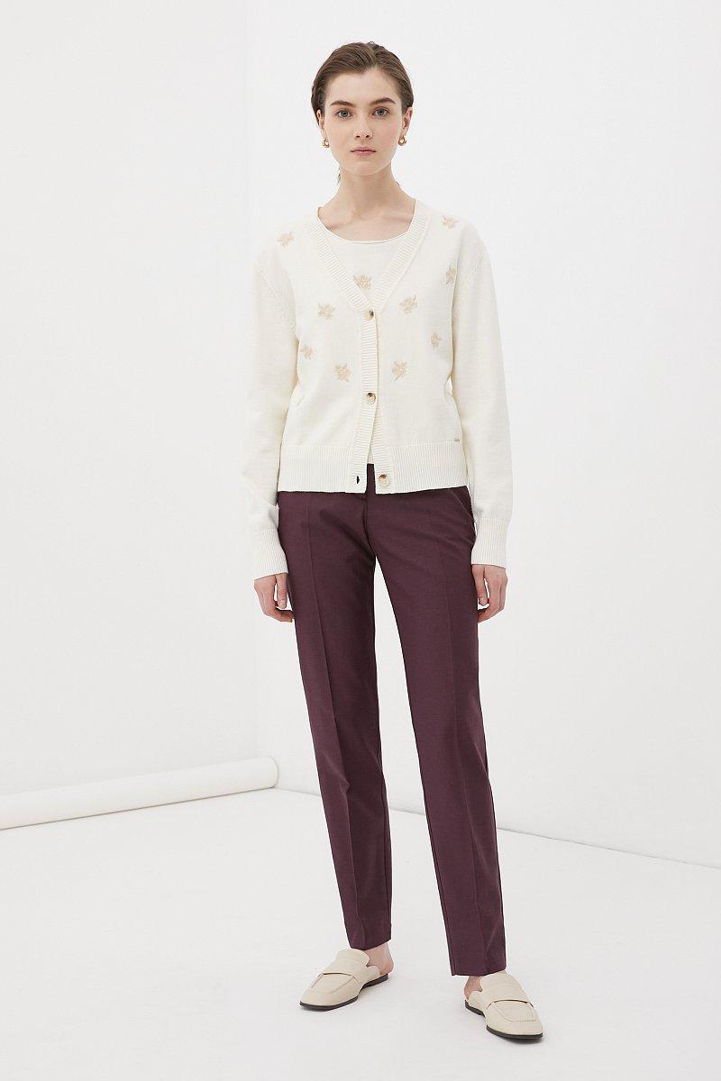 Зауженные женские брюки со стрелками, Модель FWB51036, Фото №1