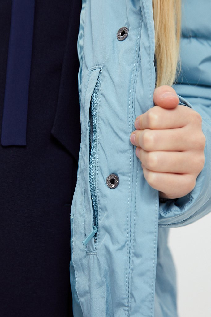 Пальто для девочки, Модель KA20-71001, Фото №6